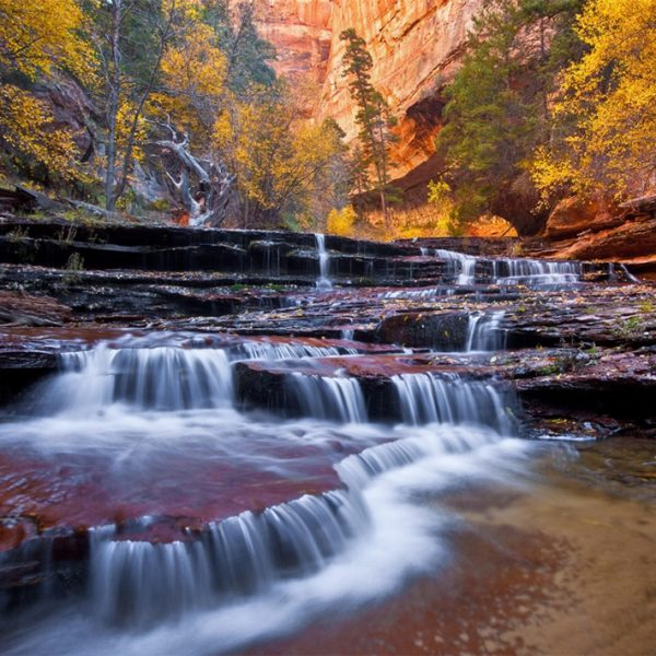 Arch Angel Falls on the Left Fork of North Creek in Zion National Park, Utah